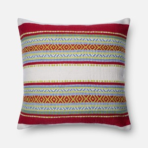Red and Multicolor Pillow | Loloi