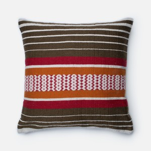 Brown and Multicolor Pillow | Loloi