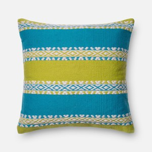 Green and Blue Pillow | Loloi