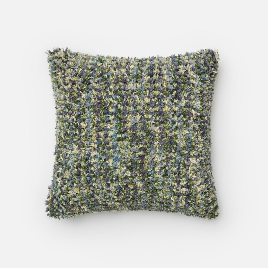 Green and Plum Pillow | Loloi