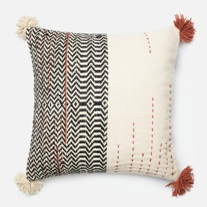 Black and Ivory Pillow | Loloi