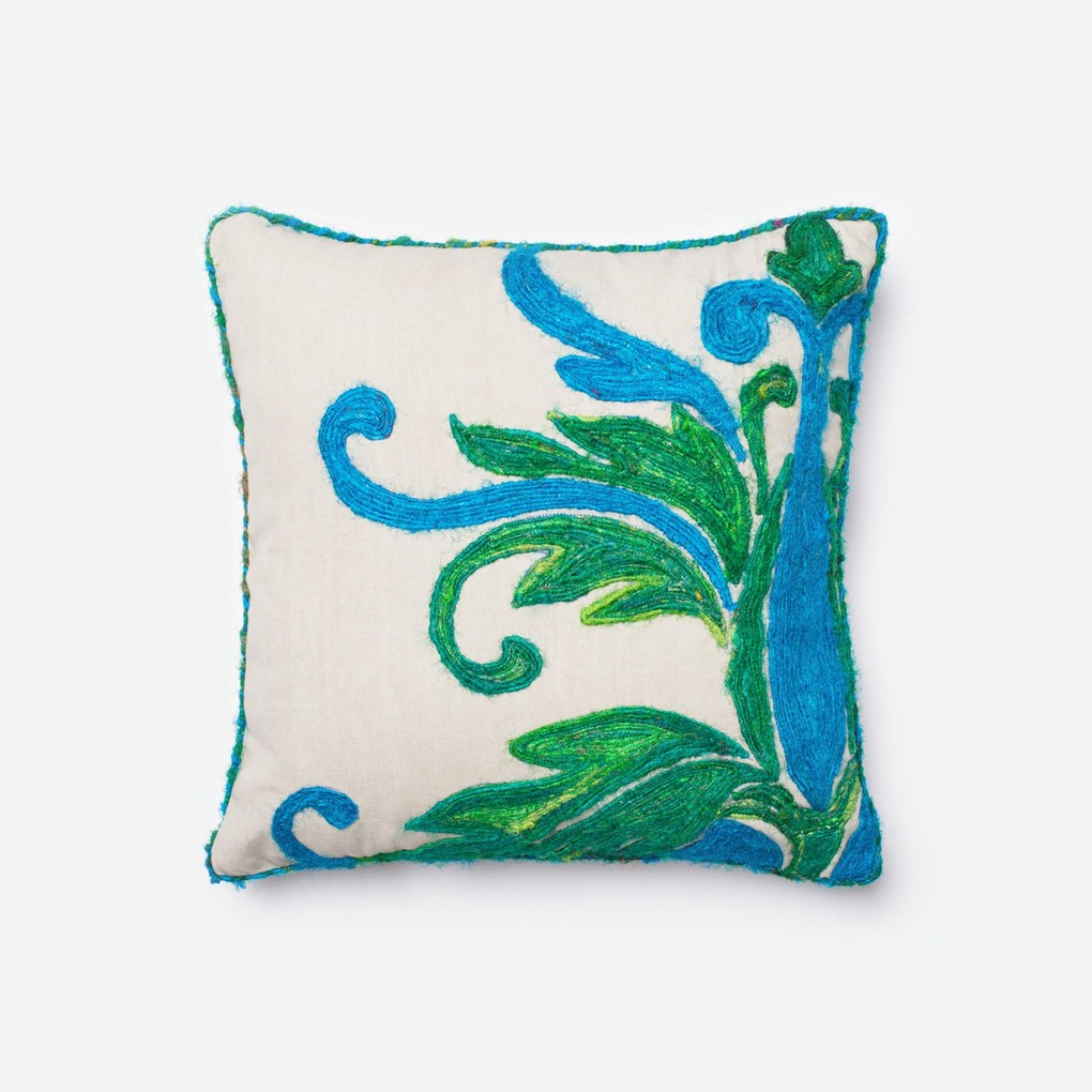 Green and Blue Pillow   Loloi