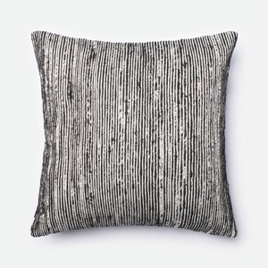 Black and Multicolor Pillow
