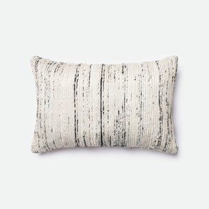 Silver and Multicolor Pillow