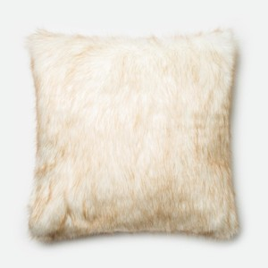 Ivory and Camel Pillow
