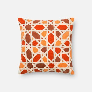 Orange and Red Pillow | Loloi