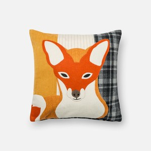 Rust and Grey Pillow