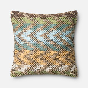 Green and Multicolor Pillow | Loloi