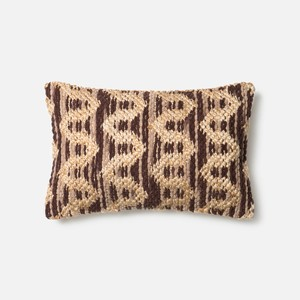 Brown and Beige Pillow | Loloi