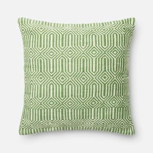 Green and Ivory Pillow