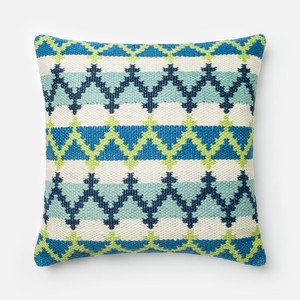 Blue and Green Pillow | Loloi