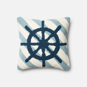 Navy and Ivory Pillow