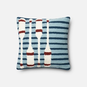 Navy and Red Pillow
