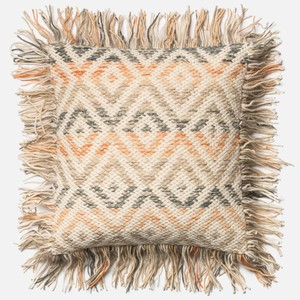 Beige and Orange Pillow