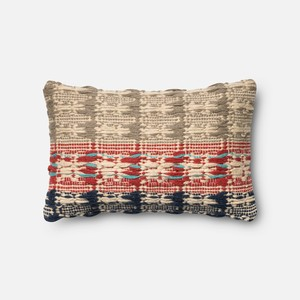 Red and Blue Pillow | Loloi