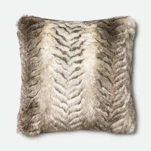 White and Grey Pillow   Loloi
