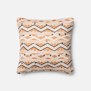 Orange and Ivory Pillow | Loloi