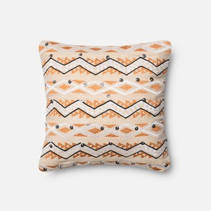 Orange and Ivory Pillow   Loloi