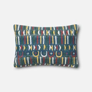 Blue and Multicolor Pillow | Loloi