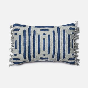 Blue and Grey Pillow | Loloi