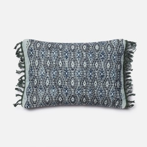 Blue and Grey Pillow
