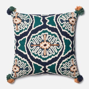Blue and Teal Pillow