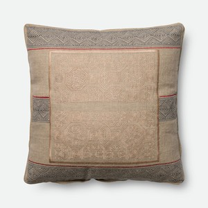 Beige and Blue Pillow