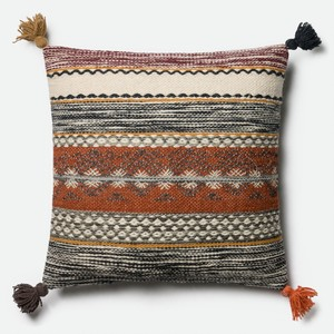 Rust and Multicolor Pillow