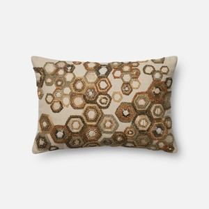 Brown and Beige Pillow   Loloi