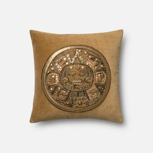 Gold and Gold Pillow   Loloi
