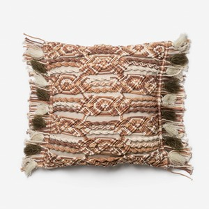 Brown and Ivory Pillow   Loloi