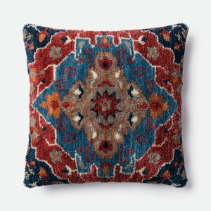 Blue and Rust Pillow