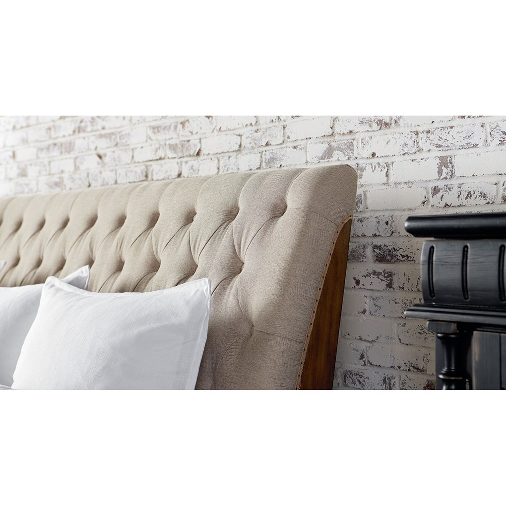 Camion Upholstered Sleigh Bed | Magnolia Home