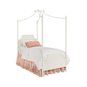 Manor Iron Youth Canopy Bed in Jo's White