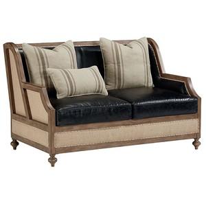 Foundation Loveseat in Old Saddle Black Leather | Magnolia Home