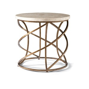 Round Spiral Base Lamp Table | CTH-Sherrill Occasional