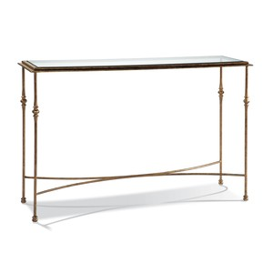 Aged Gold Console Table