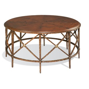 Wrought Iron Round Cocktail Table