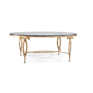 Fleur de Lis Oval Cocktail Table | CTH-Sherrill Occasional