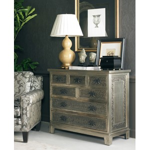 Hammered Metal Chest | CTH-Sherrill Occasional
