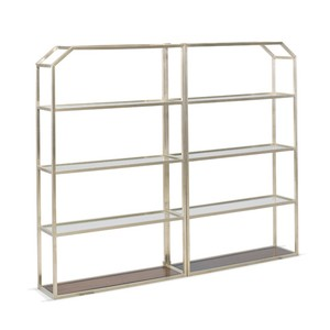Frankie Accent Metal Bookcase