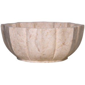 White Marble Bowl - Large