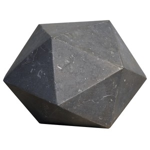 Polyhedron Object in Black Marble | Noir