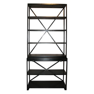 Sutton Bookcase in Hand Rubbed Black Finish | Noir
