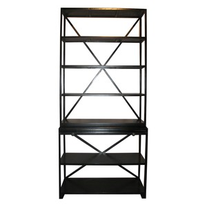 Sutton Bookcase in Hand Rubbed Black Finish
