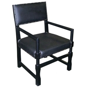Leather Square Arm Dining Chair