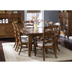Rectangular Leg Table in Oak | Liberty Furniture
