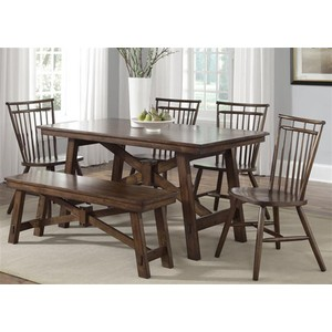 Rectangular Leg Table | Liberty Furniture