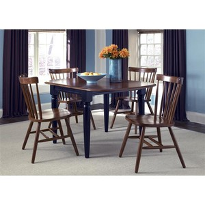 Drop Leaf Table in Black and Tobacco