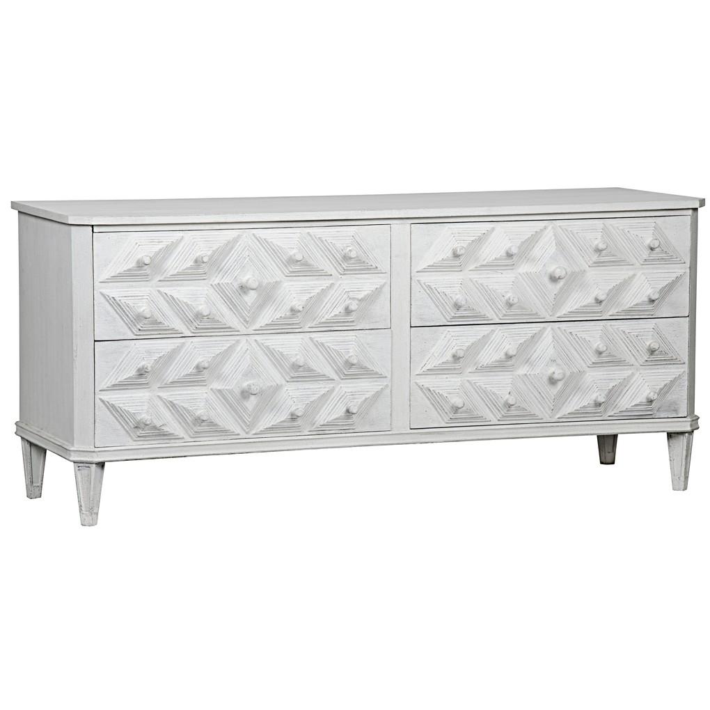 Giza Four Drawer Dresser | Noir